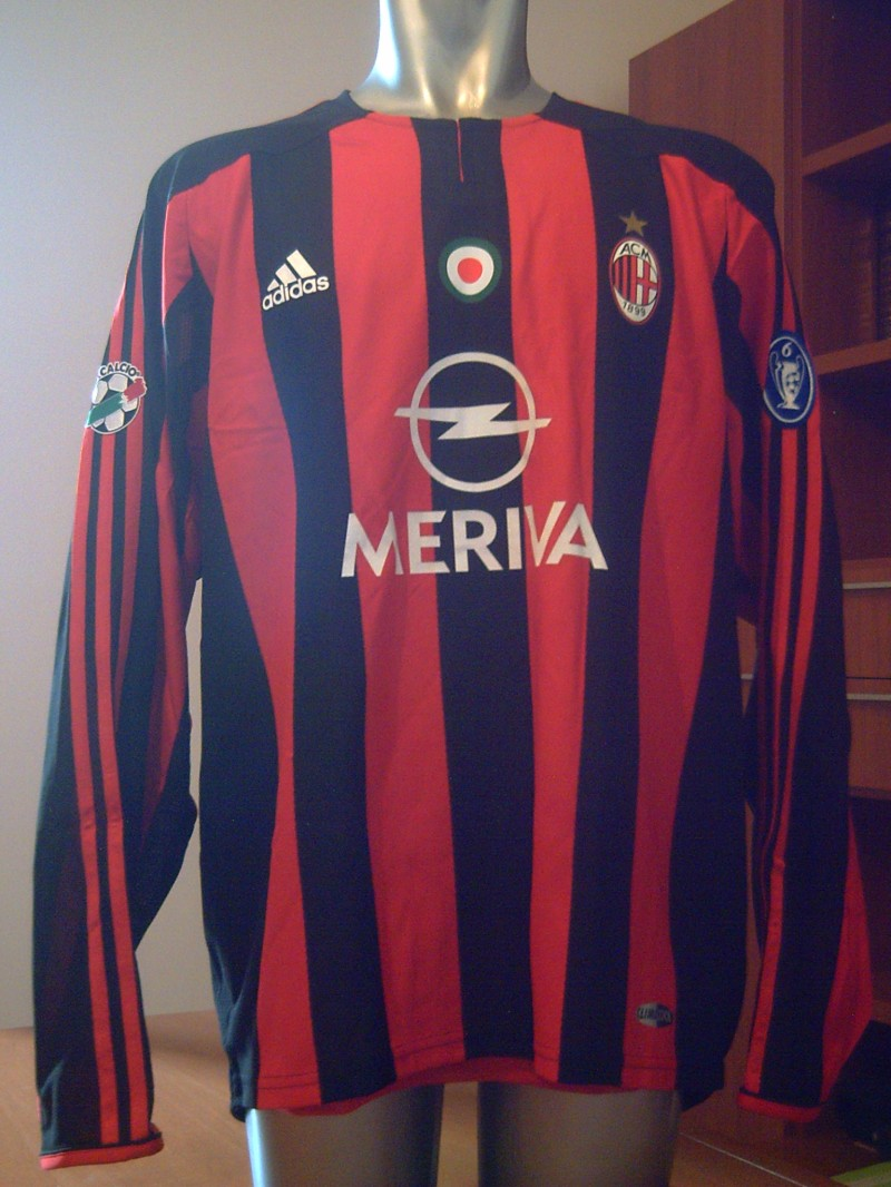 AC MILAN MATCH ISSUED SHIRT 2003-2004