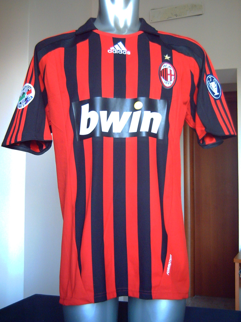 AC MILAN MATCH WORN SHIRT 2007-2008